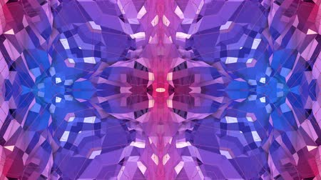 lüktet : blue violet low poly geometric abstract background as a moving stained glass or kaleidoscope effect in 4k. Loop 3d animation, seamless footage in popular low poly style. V2