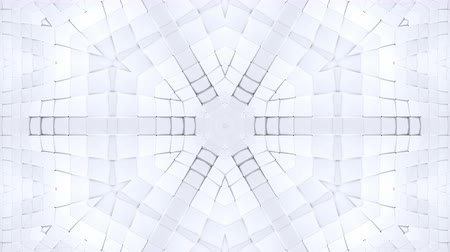 lüktet : low poly geometric abstract background as a moving stained glass or kaleidoscope effect in 4k. Loop 3d animation, seamless footage in popular low poly style. White color v5
