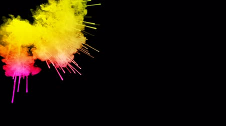 zářivé barvy : fireworks from paints isolated on black background with nice trails. explosion of colored powder or ink. juicy creative explosion of all colors of the rainbow in the air in slow motion. 60 Dostupné videozáznamy