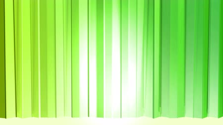 tremble : Abstract low poly style looped background. 3d seamless animation in 4k. Modern gradient colors. Low poly green surface like curtains v3