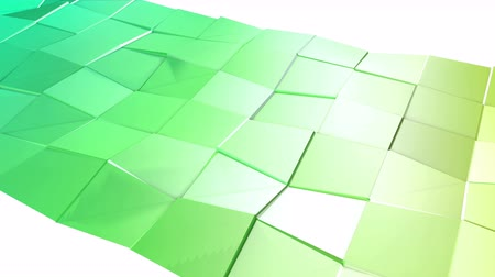 időszakos : Abstract low poly style looped background. 3d seamless animation in 4k. Modern gradient colors. Low poly green surface v2 Stock mozgókép
