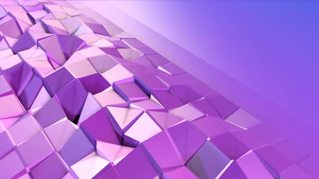 matematikai : Abstract low poly style looped background. 3d seamless animation in 4k. Modern gradient colors. Low poly violet blue surface with copy space v2