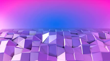 crumpled : 4k low poly background animation in loop. Seamless 3d animation in modern geometric low poly style with gradient colors. Creative simple background. V1 violet plane with copy space