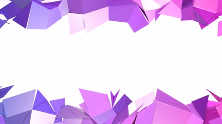 időszakos : 4k low poly background animation in loop. Seamless 3d animation in modern geometric low poly style with gradient colors. Creative simple background. V5 Stock mozgókép