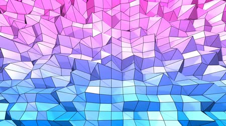 időszakos : 4k clean low poly animated background in loop. Seamless 3d animation in modern geometric style with modern gradient colors. Creative simple background. Red blue gradient colors 7