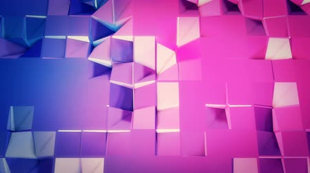 pulsate : 4k clean low poly animated background in loop. Seamless 3d animation in modern geometric style with modern gradient colors. Creative simple background. Red blue gradient colors, plane 6
