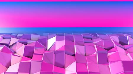 időszakos : 4k clean low poly animated background in loop. Seamless 3d animation in modern geometric style with modern gradient colors. Creative simple background. Red blue gradient colors 18
