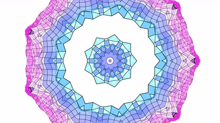deformação : 4k clean geometric kaleidoscopic animated background in loop, low poly style. Seamless 3d animation with modern gradient colors. Creative simple blue red background with round structure. 3