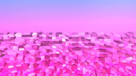 időszakos : 4k clean geometric animated background in loop, low poly style. Seamless 3d animation with modern gradient colors. Creative simple blue red background with copy space. 2