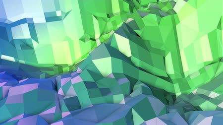 oscilante : 4k clean geometric animated background in loop, low poly style. Seamless 3d animation with modern gradient colors. Creative simple green blue background. 8 Vídeos