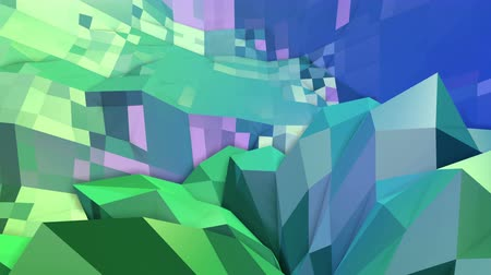 időszakos : 4k clean geometric animated background in loop, low poly style. Seamless 3d animation with modern gradient colors. Creative simple green blue background. 12 Stock mozgókép