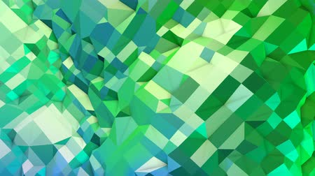 pulsate : 4k clean geometric animated background in loop, low poly style. Seamless 3d animation with modern gradient colors. Creative simple green blue background. 11