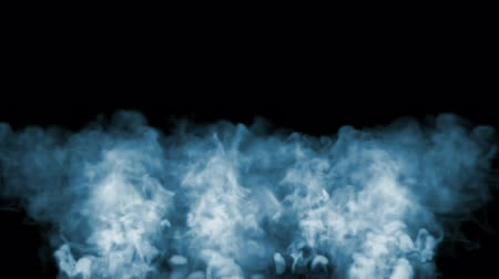 gush : 3d animation of beautiful smoke on a black background for visual effects with smoke. V9 Stock Footage