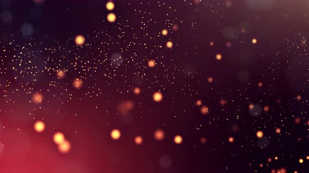 dot matrix : 3d golden red background with fantastic luminous particles. Looped 3d animation with depth of field, light effects. Modern digital background. point field 5