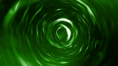 matriz : 3d green background with fantastic luminous particles. Looped 3d animation with depth of field, light effects. Modern digital background. spherical structures 2