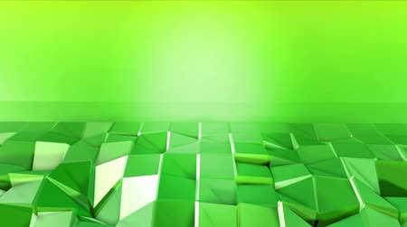 matematikai : 4k clean low poly 3d animation in loop. Seamless 3d background in modern geometric style low poly with bright gradient colors yellow green. Plane with copy space 3