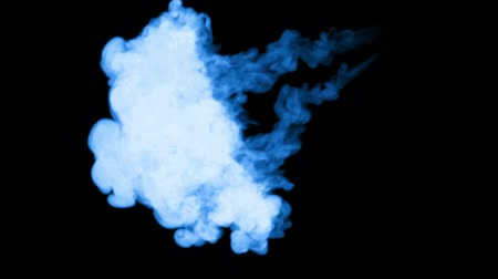 шлейф : 3d render of blue glow ink dissolve in water, simulation of ink injection, vfx effects with luma matte. Blue on black 1