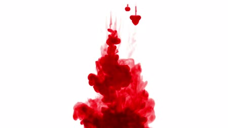 шлейф : 3d render of red ink dissolve in water, simulation of ink injection, vfx effects with luma matte. Red on white 4