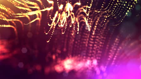 pontilhado : dynamic abstract background of glowing particles with shining bokeh sparkles. Dark multi colored composition with oscillating luminous particles. Science fiction. Smooth animation looped. 9