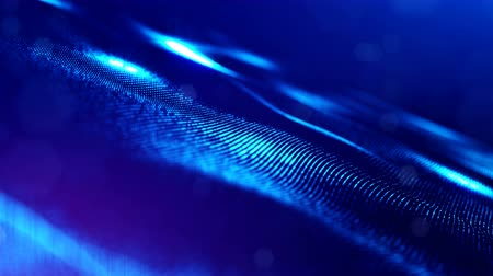 luminosity : 4k abstract background with smooth looped animation of glowing particles, shining bokeh sparkles. Sci-fi blue composition with oscillating luminous particles. Motion graphics 7