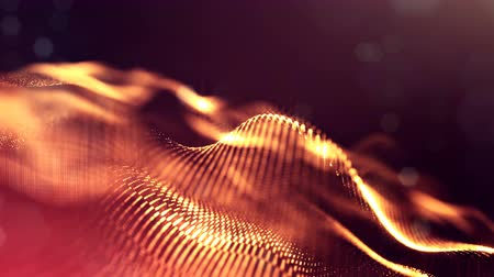 kroutit : 4k abstract background with smooth looped animation of glowing particles, shining bokeh sparkles. Sci-fi golden red composition with oscillating luminous particles. Motion graphics 21