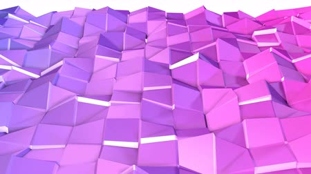 pulsate : Seamless 3d geometric background in modern geometric style low poly with bright gradient colors. 4k clean violet low poly 3d animation in loop. fluttering flat surface 2
