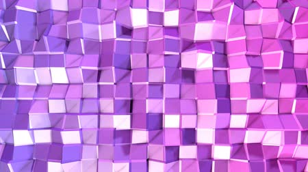 интенсивность : Seamless 3d geometric background in modern geometric style low poly with bright gradient colors. 4k clean violet low poly 3d animation in loop. fluttering flat surface 3