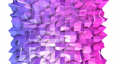 időszakos : Seamless 3d geometric background in modern geometric style low poly with bright gradient colors. 4k clean violet low poly 3d animation in loop. fluttering flat surface 7