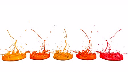colidir : 3d render of liquid splash on jar like paint on sound speaker. colorful 3d composition with dancing liquid. Warm shades 3