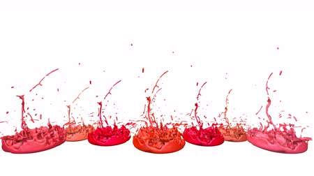 colidir : 3d render of liquid splash on jar like paint on sound speaker. colorful 3d composition with dancing liquid. Warm shades 6