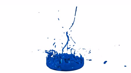 colidir : 3d render of liquid splash on jar like paint on sound speaker. colorful 3d composition with dancing liquid. Blue 1