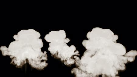 gush : 3d render of smoke simulation isolated on a black background for visual effects with smoke. 15 Stock Footage