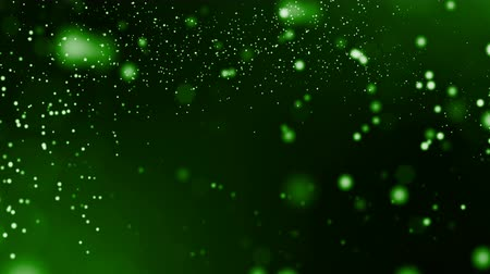nucleic : abstract looped dynamic composition of luminous particles like garland. Abstract particle background with depth of field.
