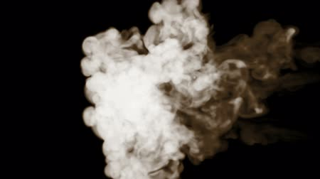 pyrotechnical : smoke isolated on black background. powerful beautiful streams of smoke blow from right to left and mix Stock Footage