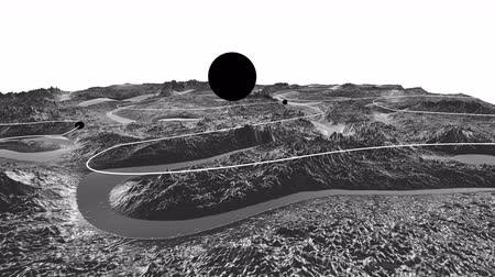 other planet : 3d render of cosmic landscape as background or environment. Planet from space view from the spacecraft very detailed surface relief of the planet. Science fiction, wide viewing angle, timelapse. 9