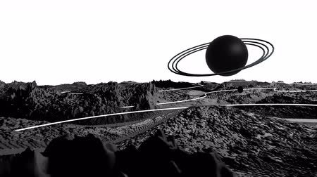other planet : 3d render of cosmic landscape as background or environment. Planet from space view from the spacecraft very detailed surface relief of the planet. Science fiction, wide viewing angle, timelapse. 23 Stock Footage