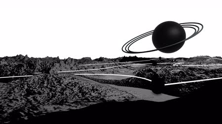other planet : 3d render of cosmic landscape as background or environment. Planet from space view from the spacecraft very detailed surface relief of the planet. Science fiction, wide viewing angle, timelapse. 24