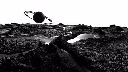 other planet : 3d render of cosmic landscape as background or environment. Planet from space view from the spacecraft very detailed surface relief of the planet. Science fiction, wide viewing angle, timelapse. 31 Stock Footage