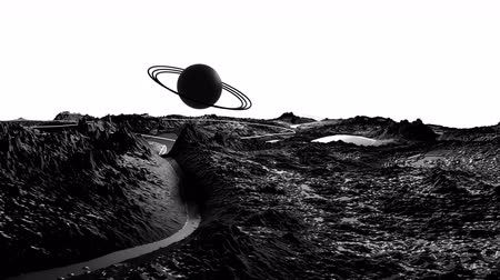 other planet : 3d render of cosmic landscape as background or environment. Planet from space view from the spacecraft very detailed surface relief of the planet. Science fiction, wide viewing angle, timelapse. 32