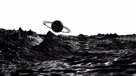 other planet : 3d render of cosmic landscape as background or environment. Planet from space view from the spacecraft very detailed surface relief of the planet. Science fiction, wide viewing angle, timelapse. 33