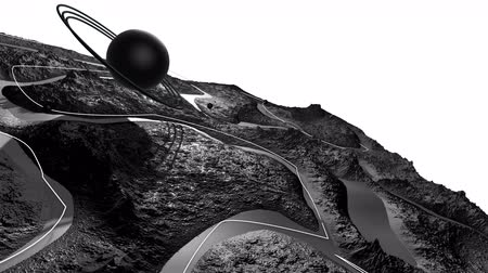 other planet : 3d render of cosmic landscape as background or environment. Planet from space view from the spacecraft very detailed surface relief of the planet. Science fiction, wide viewing angle, timelapse. 40 Stock Footage