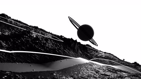other planet : 3d render of cosmic landscape as background or environment. Planet from space view from the spacecraft very detailed surface relief of the planet. Science fiction, wide viewing angle, timelapse. 44