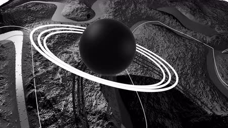other planet : 3d render of cosmic landscape as background or environment. Planet from space view from the spacecraft very detailed surface relief of the planet. Science fiction, wide viewing angle, timelapse. 51