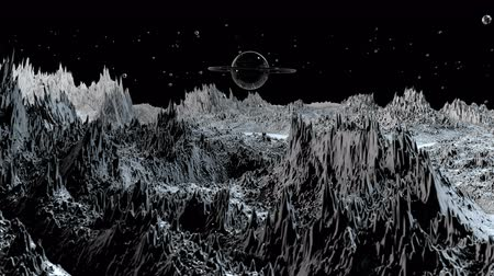 other planet : 3d render of cosmic landscape as background or environment. Planet from space view from the spacecraft very detailed surface relief of the planet. Science fiction, wide viewing angle, timelapse. 67