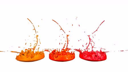 跳ねる : 3d render of liquid splash on jar like paint on sound speaker. colorful 3d composition with paint. juicy bright liquid composition. Red shades 1