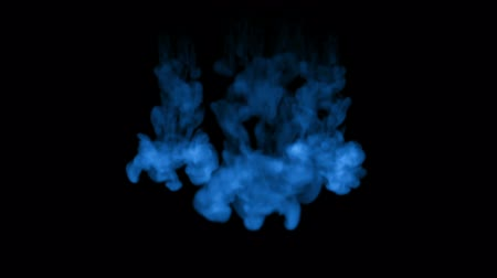 шлейф : blue fluorescent ink on a black background. 3d render, with luma matte. 1