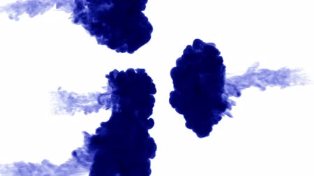 telített : blue ink on white background. 3d render, with luma matte. 3