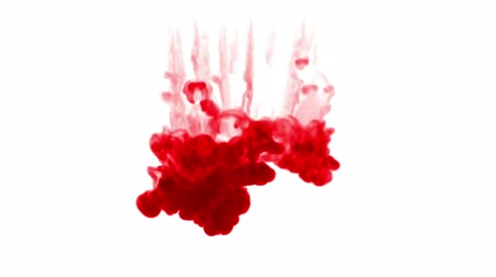 cákanec : red ink on a white background. 3d render, with luma matte, many ink injections 9