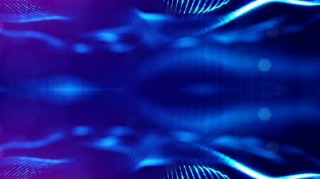 dot matrix : 4k abstract looped backgrounds with luminous particles with depth of field. For holiday presentations, as a bright background with light effects. modern motion graphics background. Blue 4