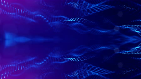 svítivý : 4k abstract looped backgrounds with luminous particles with depth of field. For holiday presentations, as a bright back ground with light effects. modern motion graphics background. Blue 8